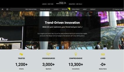 TrendWatching, plataforma online donde puedes ver la evolución de las tendencias y conocer nuevos nichos de mercado para tu empresa