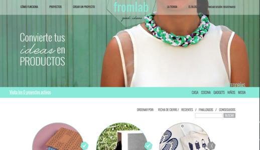 Fromlab es una plataforma digital donde puedes conseguir financiar tu proyecto a través de la venta del producto fabricado