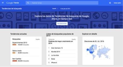 Google Trends es la plataforma de Google para identificar tendencias de consumo más buscadas por los usuarios en Google.
