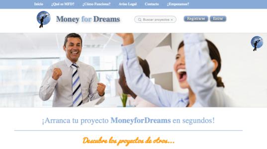 MonyeForDreams, web para conseguir financiacion crowdfunding para tu negocio en Valencia