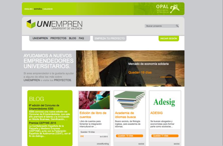 Uniempresa, plataforma crowdfunding en Valencia