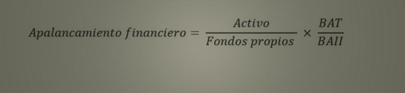 Fórmula apalancamiento financiero