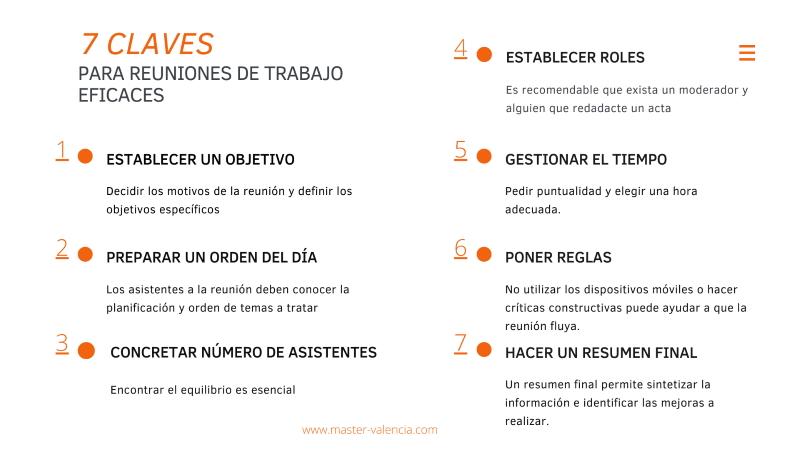 Infografía - 7 claves para mejorar las reuniones de trabajo