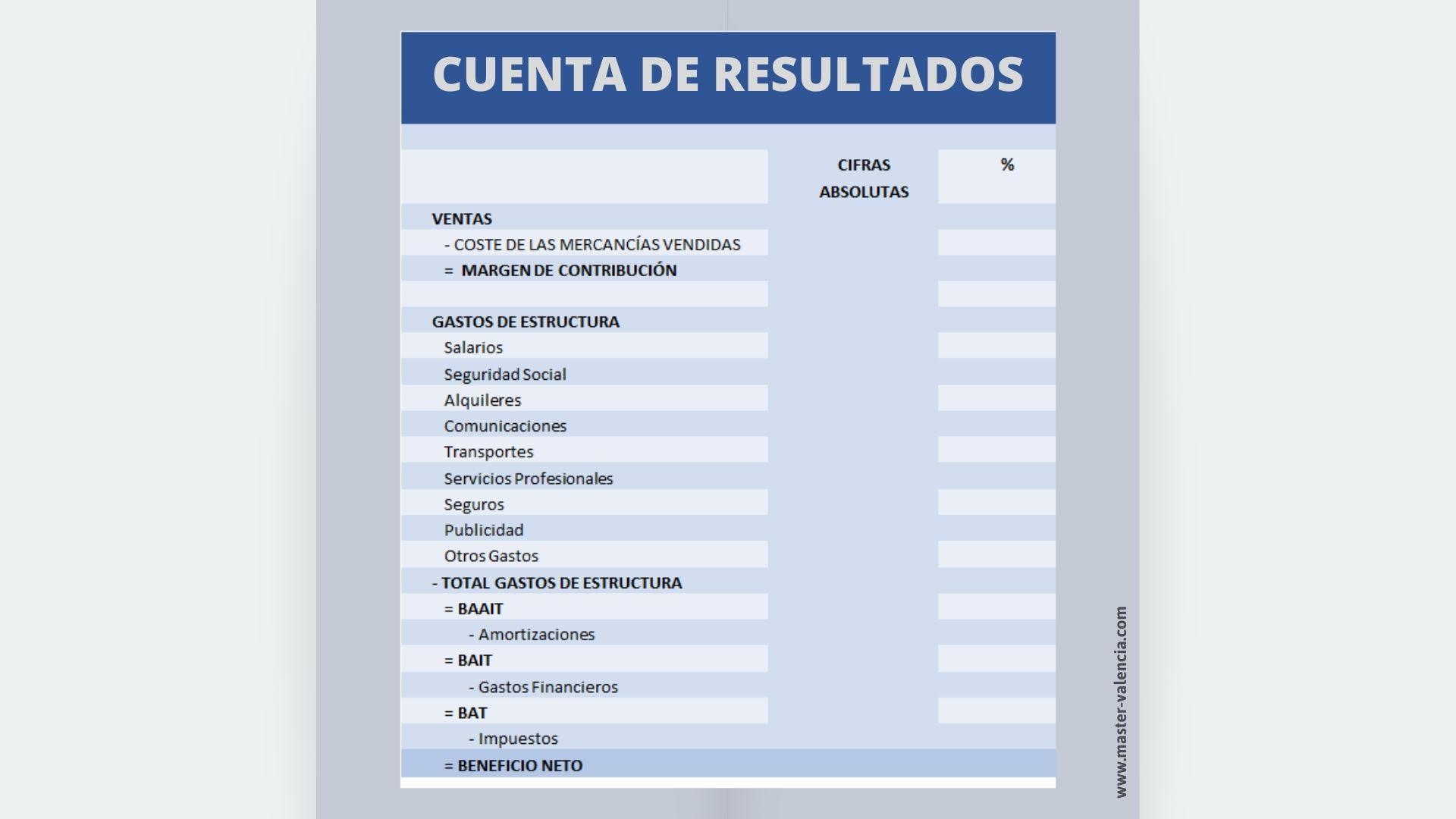 Cuenta de Resultados - MBA Valencia